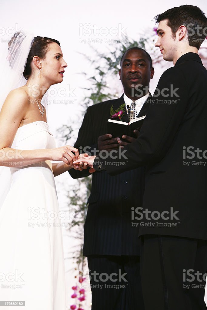 Couple Getting Married Portrait stock photo