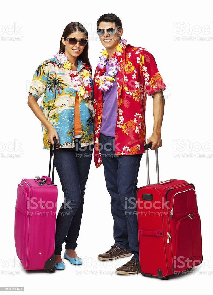 Couple Going For Vacation - Isolated royalty-free stock photo