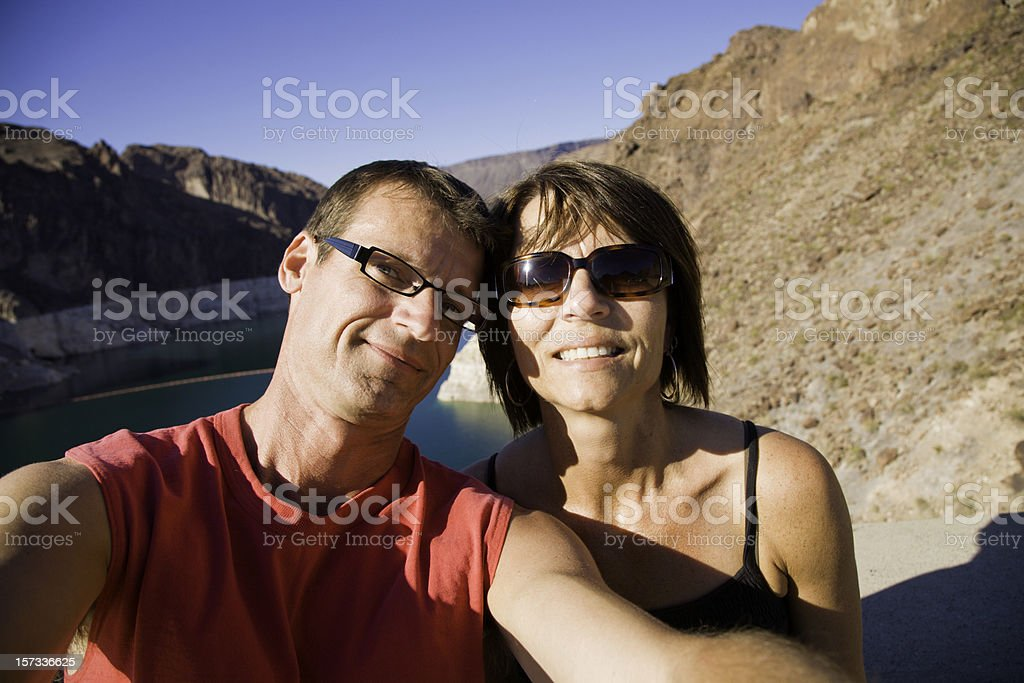 Couple Grand Canyon royalty-free stock photo