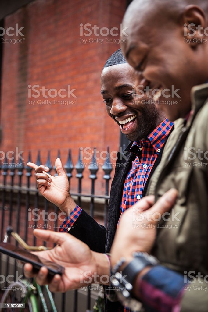 Couple hanging out in Greenwich Village - NY stock photo