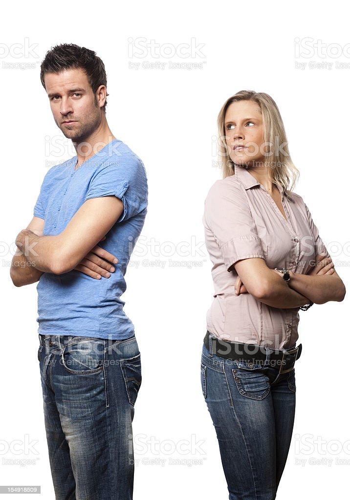 Couple has conflict royalty-free stock photo