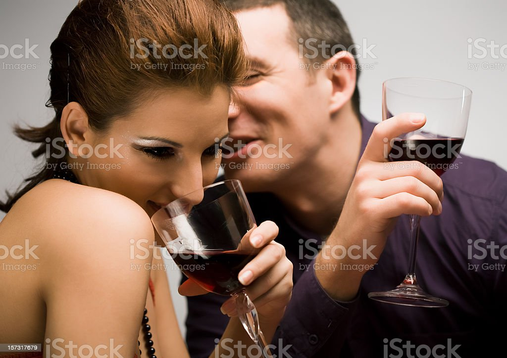 Couple Having a Dinner royalty-free stock photo
