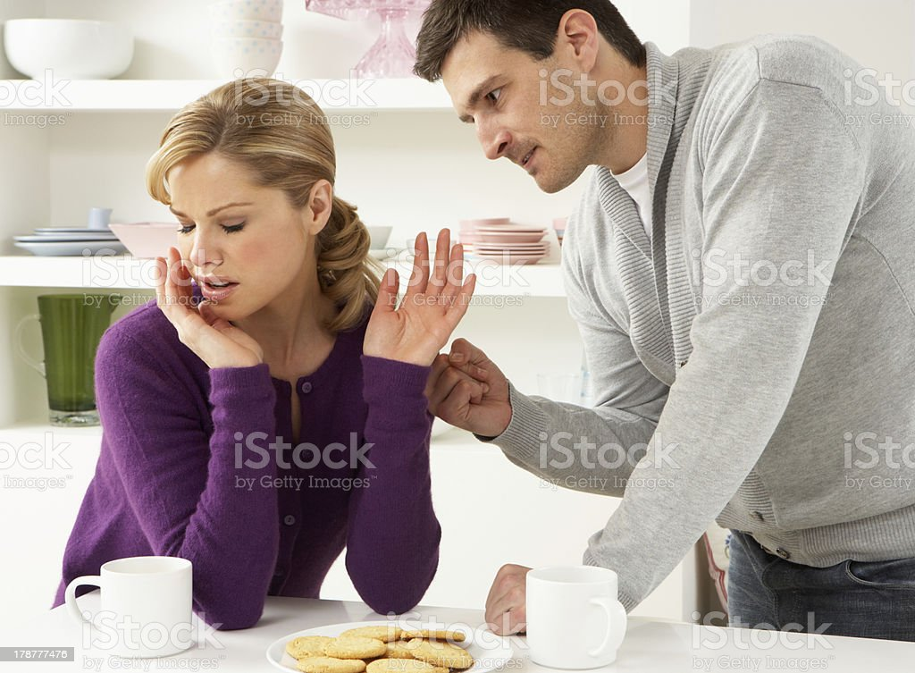 Couple Having Argument At Home royalty-free stock photo