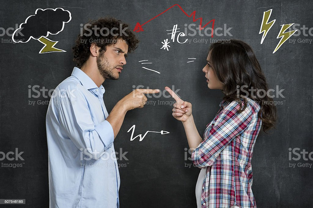 Couple Having Argument stock photo