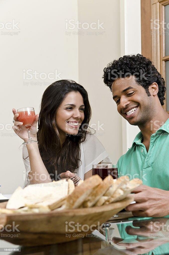 Couple having breakfast royalty-free stock photo