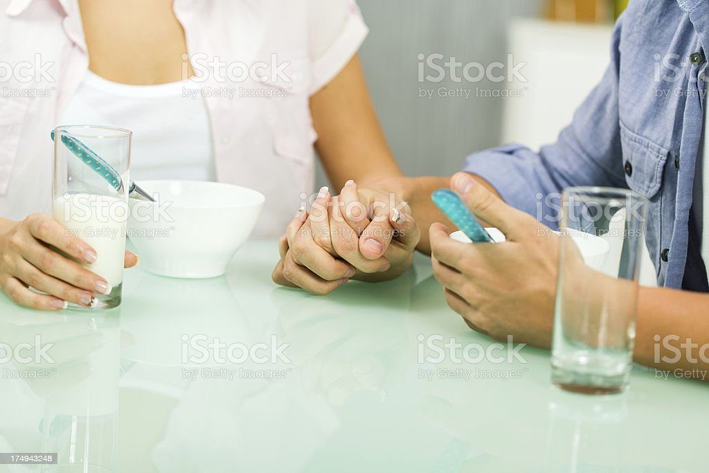 Couple having breakfast together royalty-free stock photo