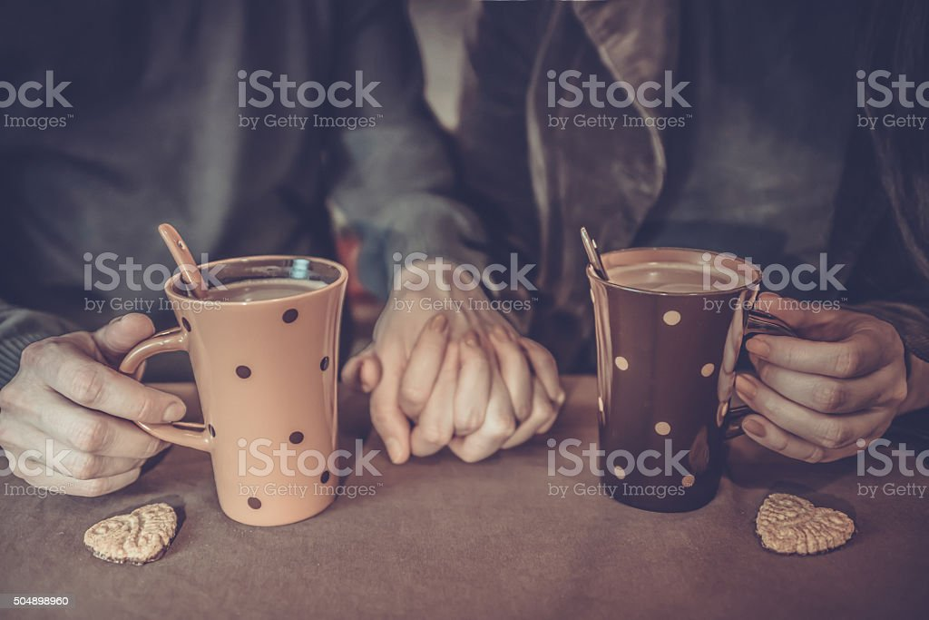 Couple Having Coffee stock photo