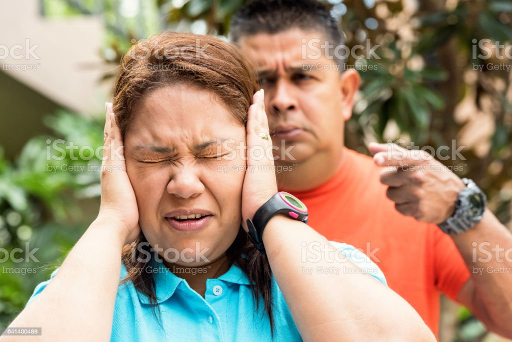Couple having conflict stock photo