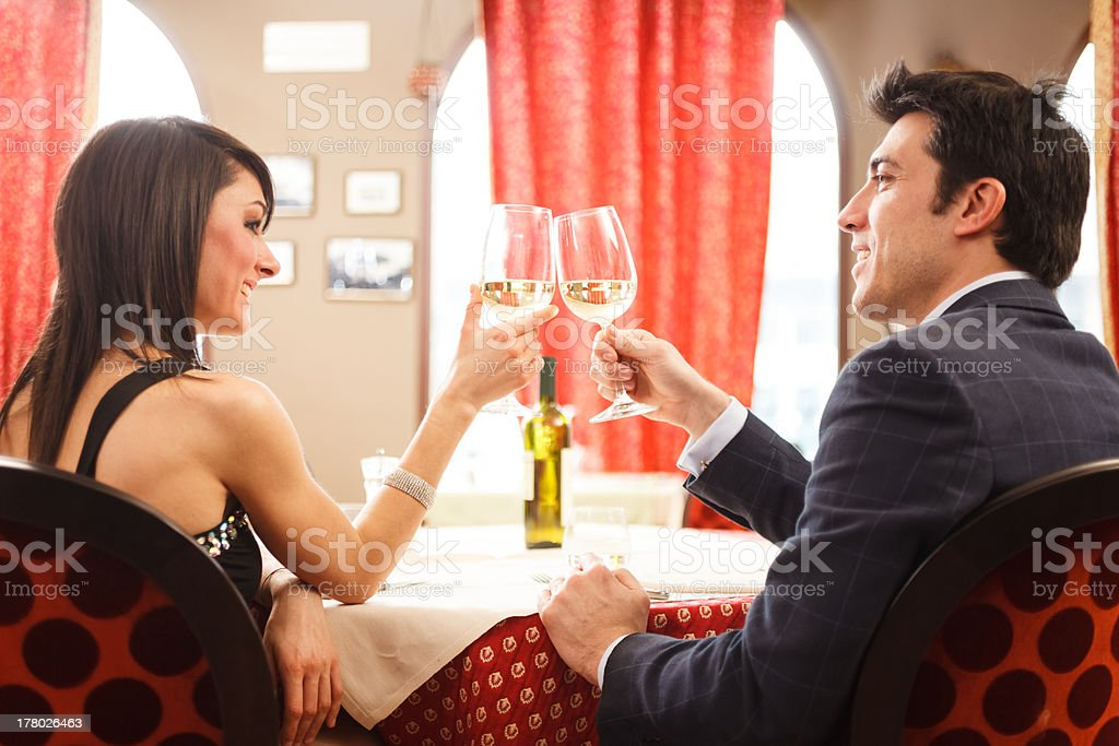 Couple having dinner royalty-free stock photo