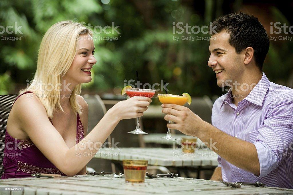 Couple Having Drinks royalty-free stock photo