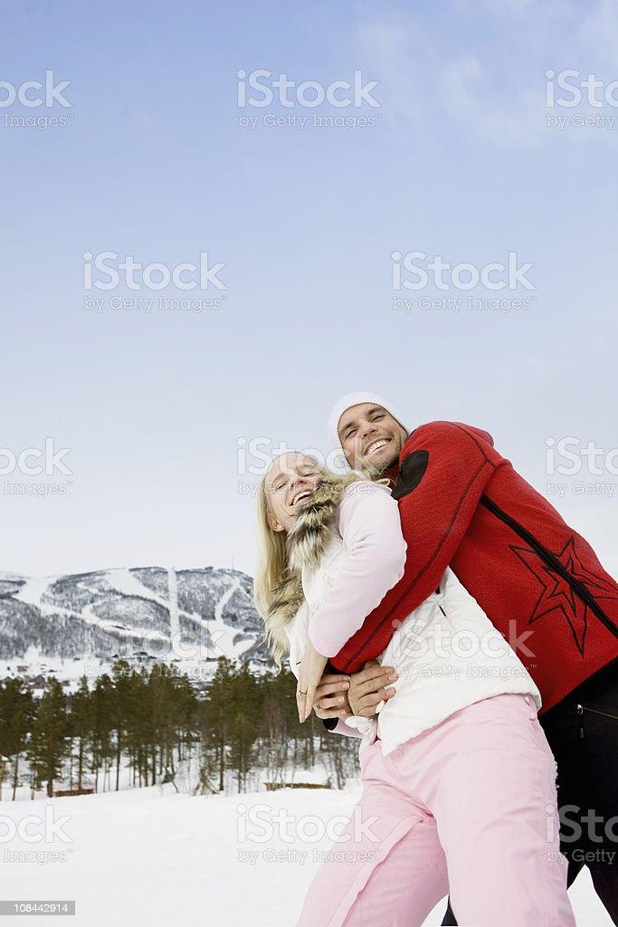Couple having fun stock photo