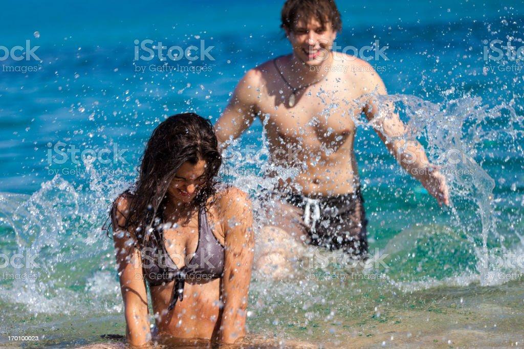 Couple having fun royalty-free stock photo