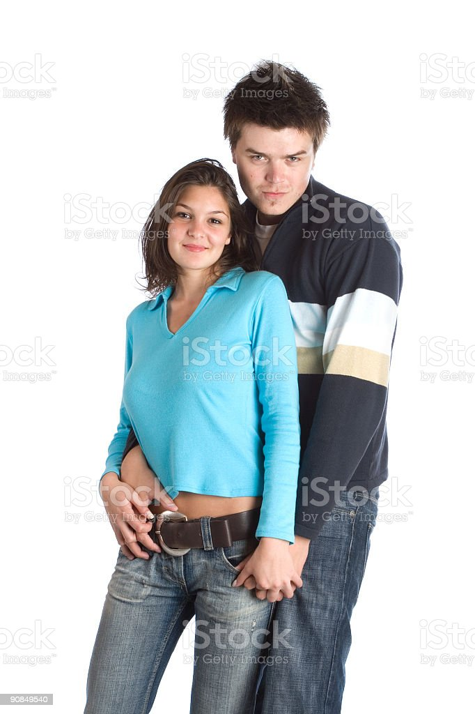 Couple Having Fun royalty-free stock photo