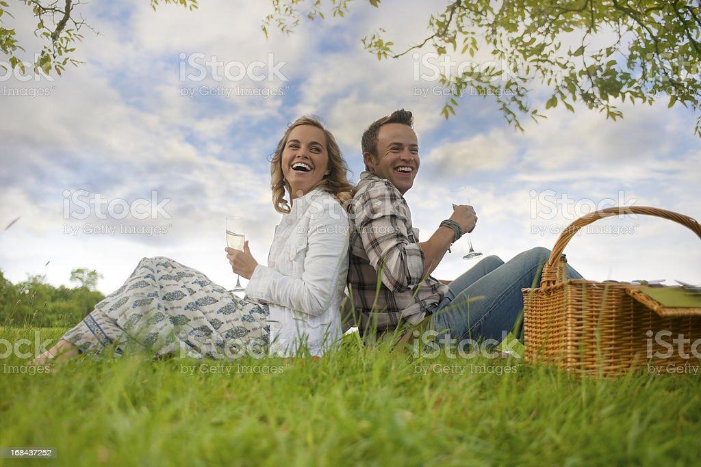 couple having picnic royalty-free stock photo
