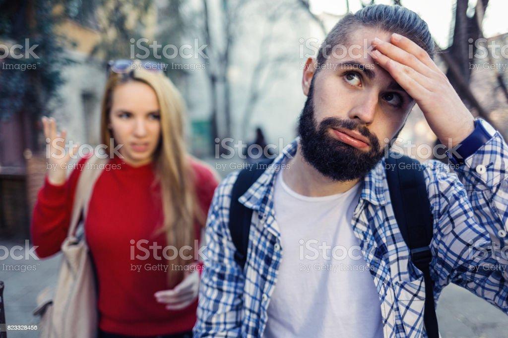 Couple having problems stock photo