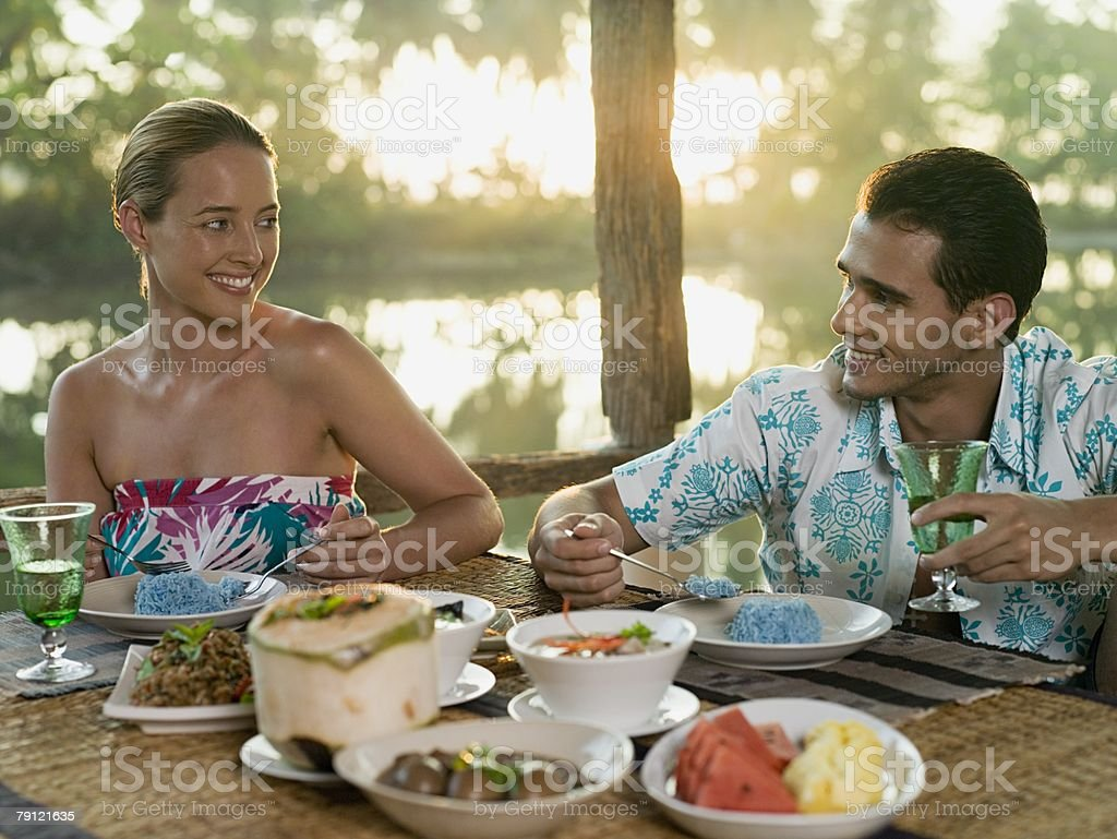 Couple having romantic meal royalty-free stock photo