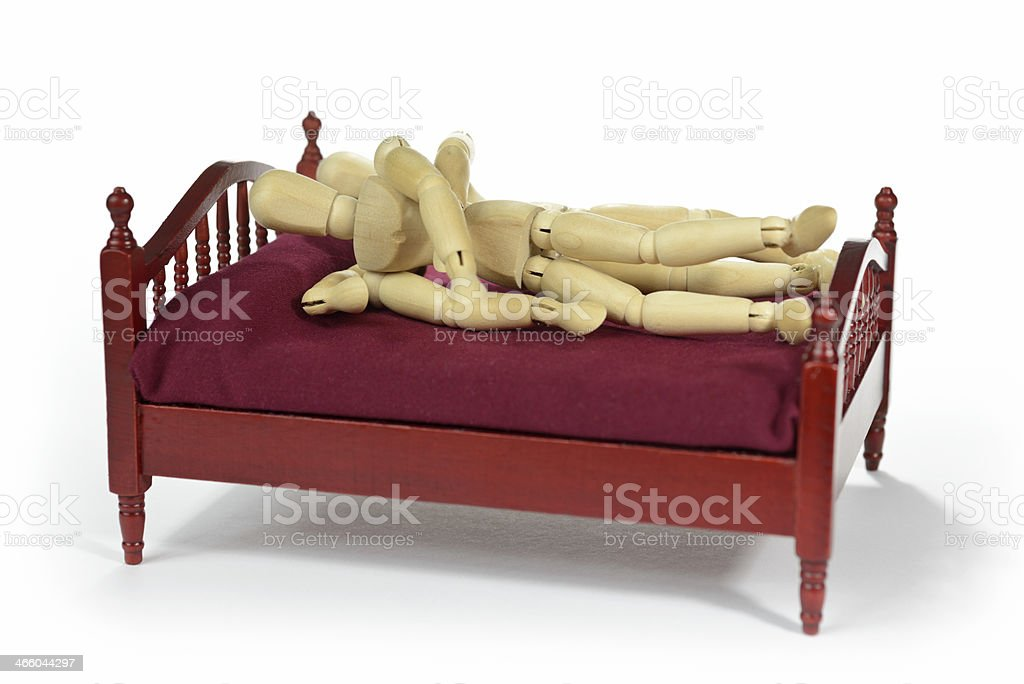 Couple having sex in bed royalty-free stock photo