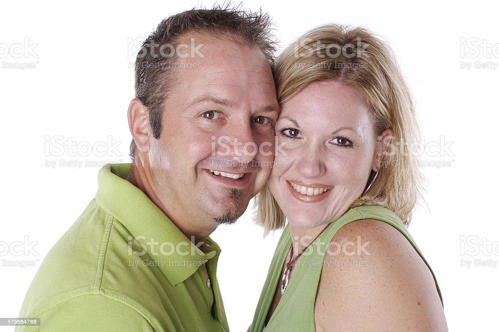 Couple head shot royalty-free stock photo