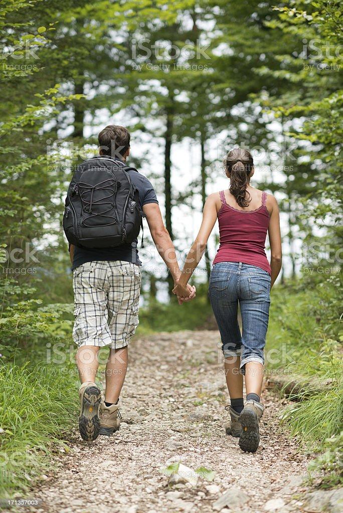 Couple hiking, Austrian Alps (XXXL) stock photo