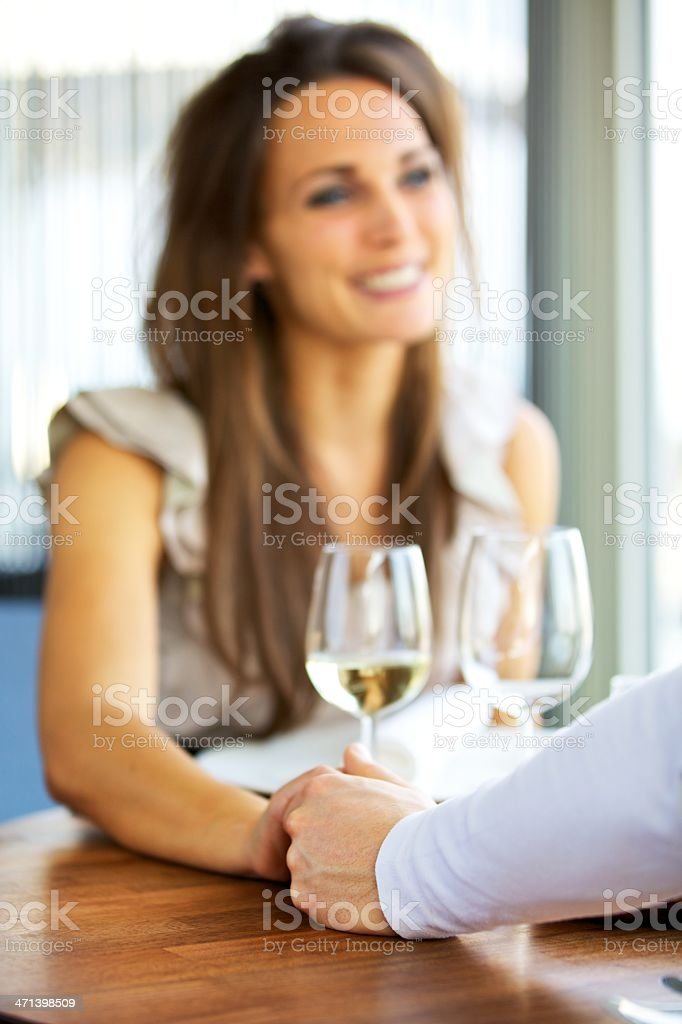 Couple Holding Each Other's Hands royalty-free stock photo
