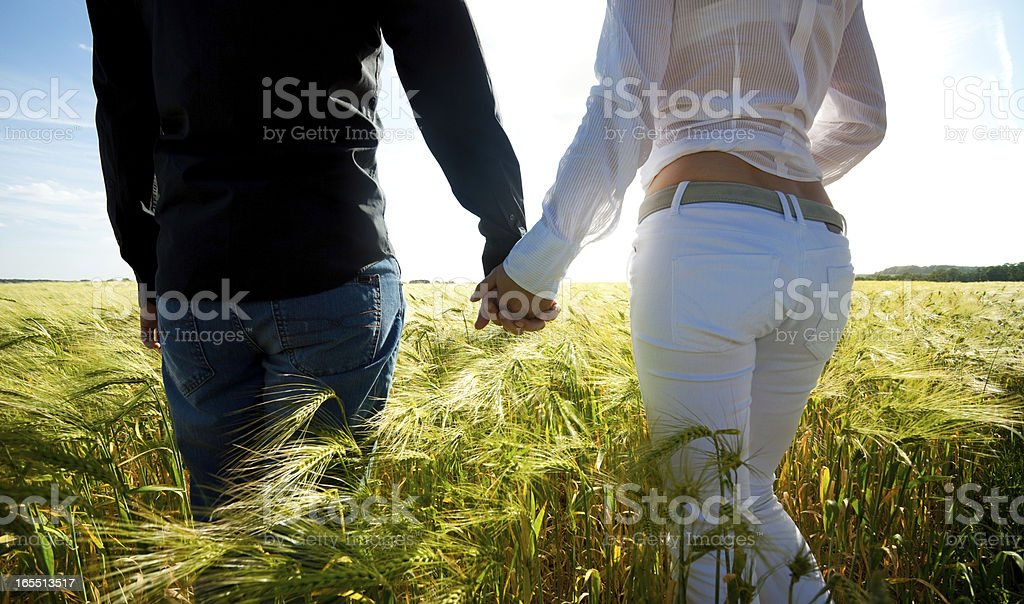 Couple Holding Hands royalty-free stock photo