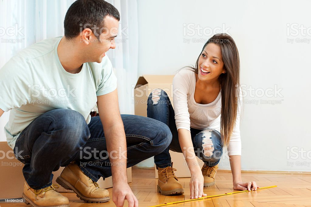 Couple Home Improvement royalty-free stock photo