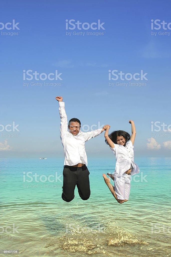 couple honeymoon royalty-free stock photo