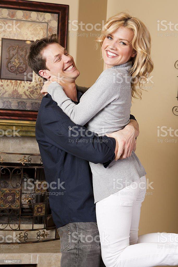 Couple hugging royalty-free stock photo