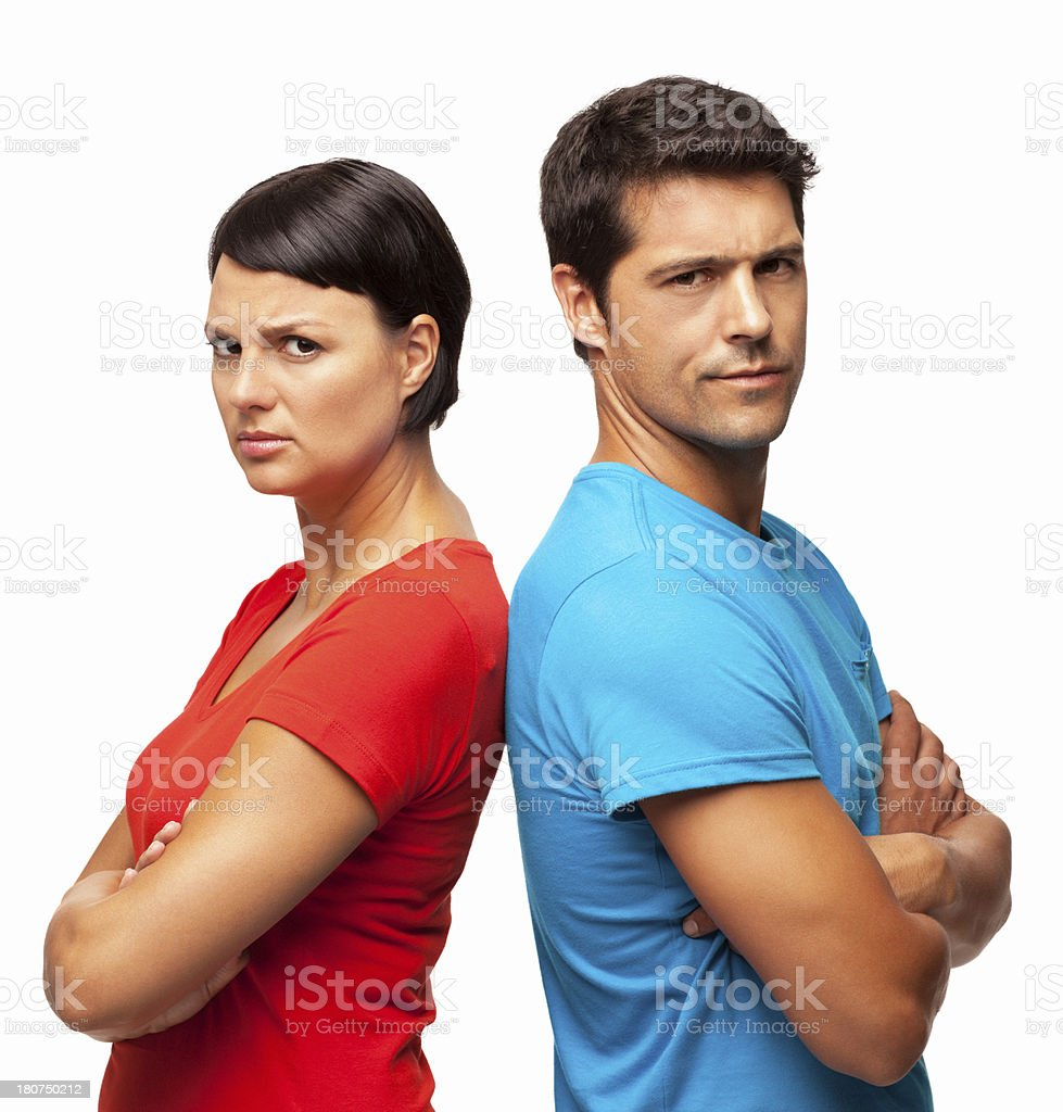 Couple In a Disagreement - Isolated royalty-free stock photo