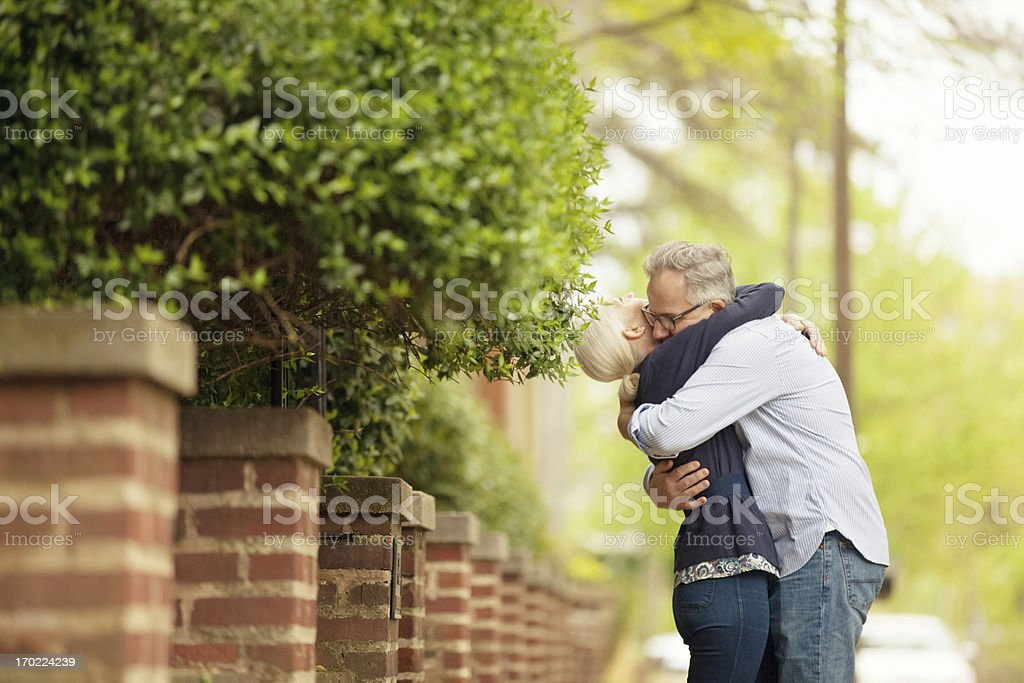 couple in a loving embrace royalty-free stock photo