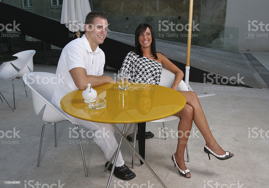 Couple in bar royalty-free stock photo