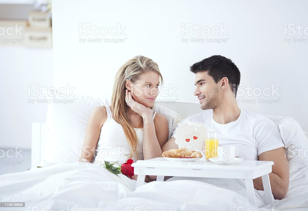 Couple in bed. royalty-free stock photo