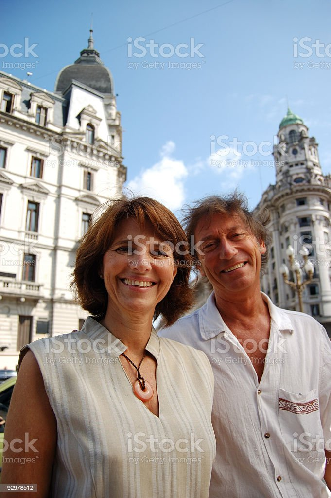 Couple in Buenos Aires royalty-free stock photo
