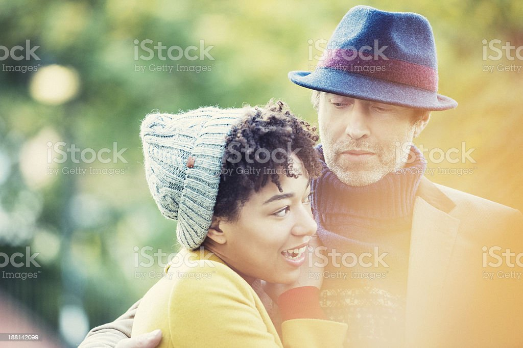 Couple in Candid moment royalty-free stock photo