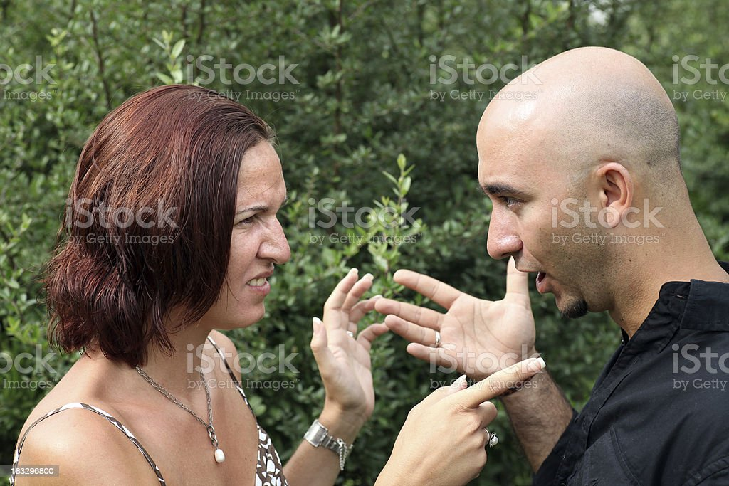 Couple in Conflict royalty-free stock photo