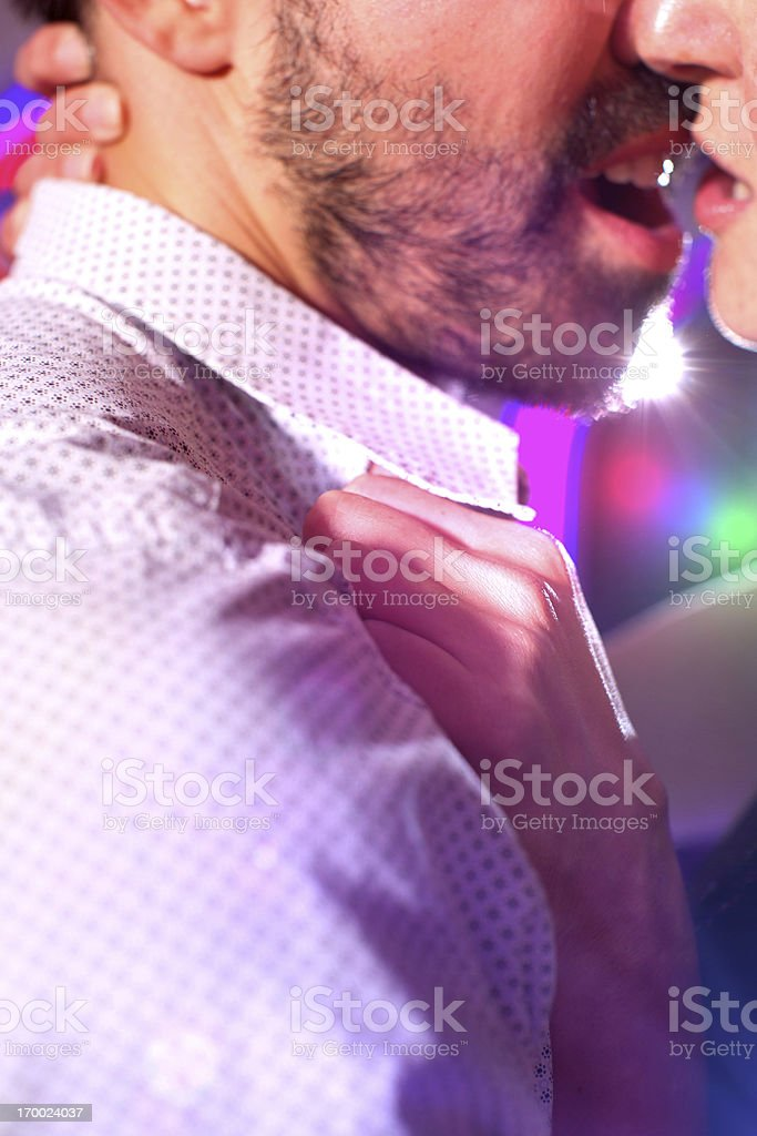 Couple in disco royalty-free stock photo