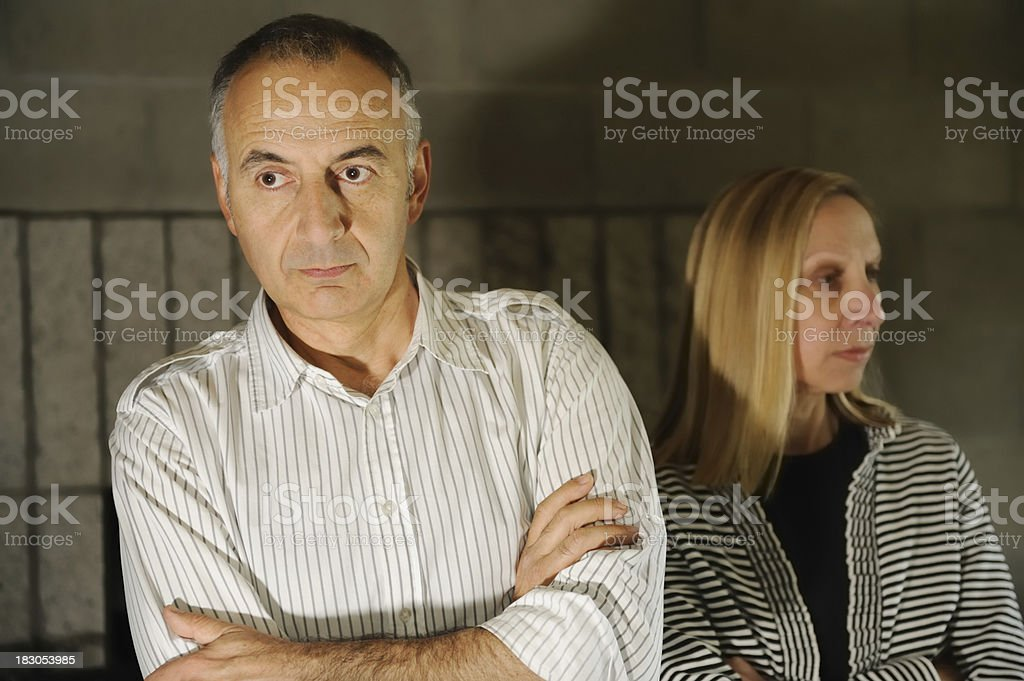 Couple in Dispute royalty-free stock photo