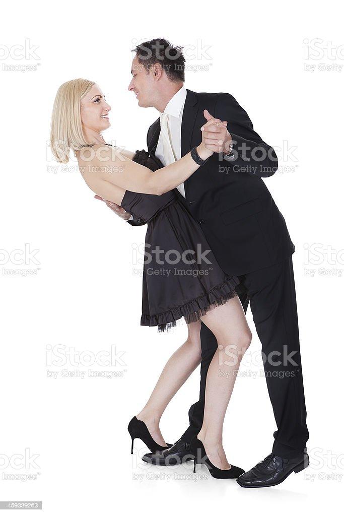 Couple In Formal Attire Dancing stock photo