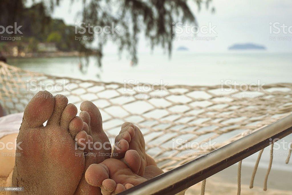 couple in hammock royalty-free stock photo