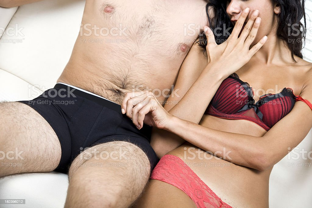 Couple in Lingerie stock photo