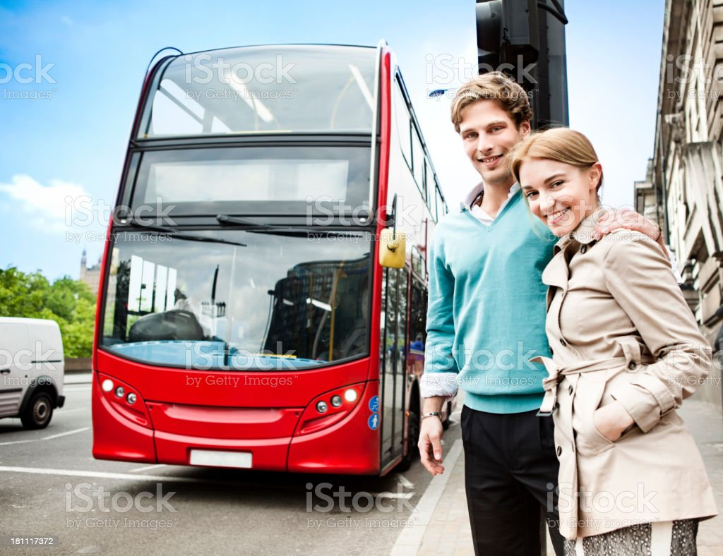 Couple in London royalty-free stock photo