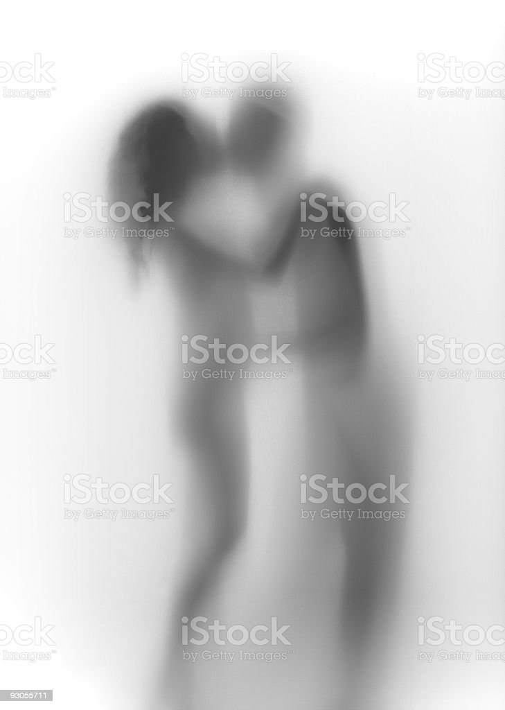Couple in love abstract royalty-free stock photo