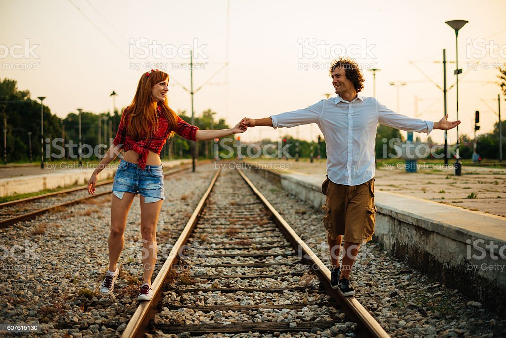 Couple in love forever stock photo
