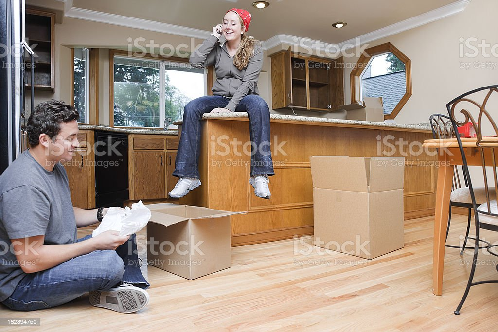 Couple in New Kitchen royalty-free stock photo