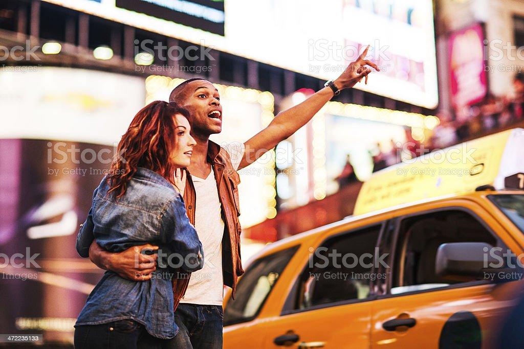 Couple in New York stock photo