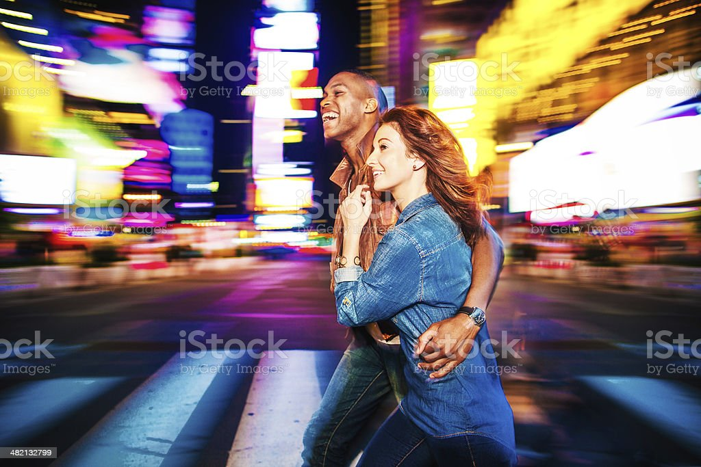 Couple in New York stock photo