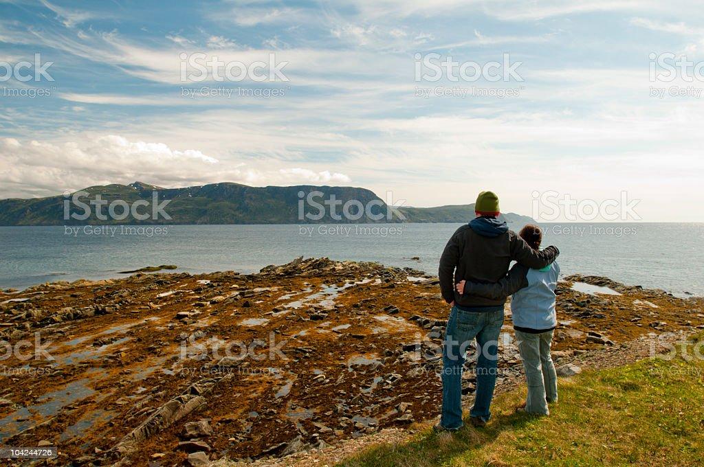 Couple in Newfoundland stock photo