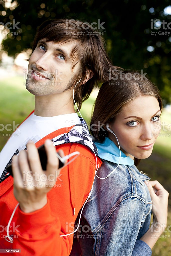Couple In Park royalty-free stock photo