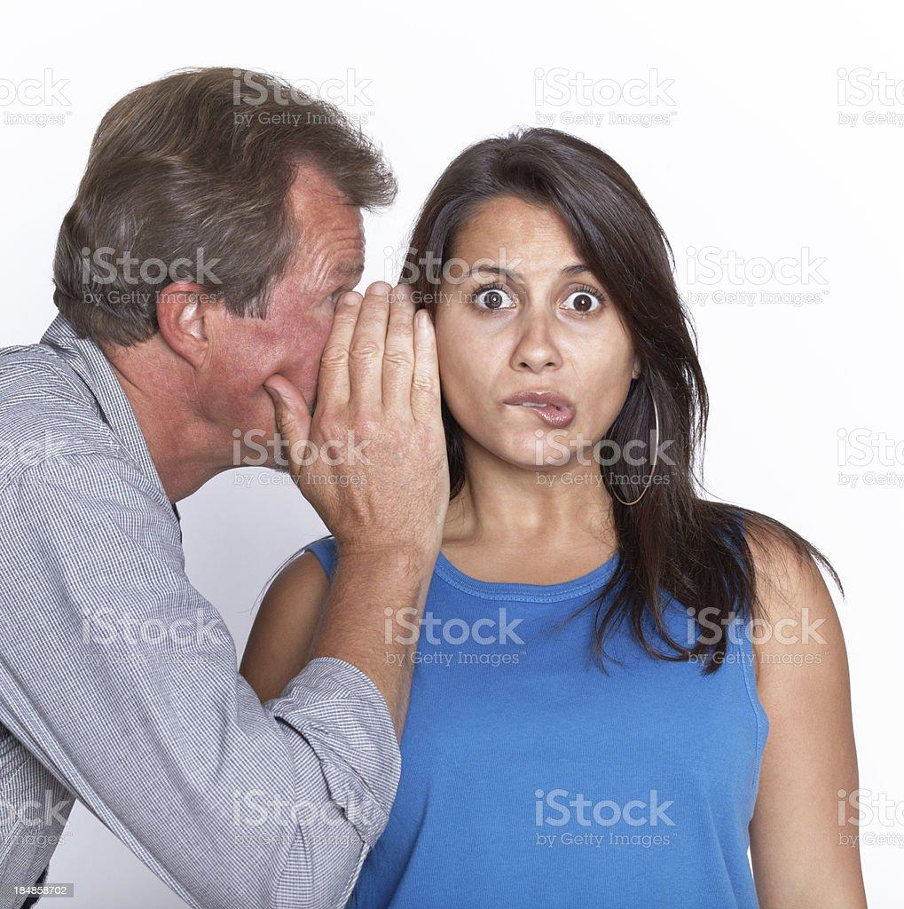 Couple in secret communication royalty-free stock photo