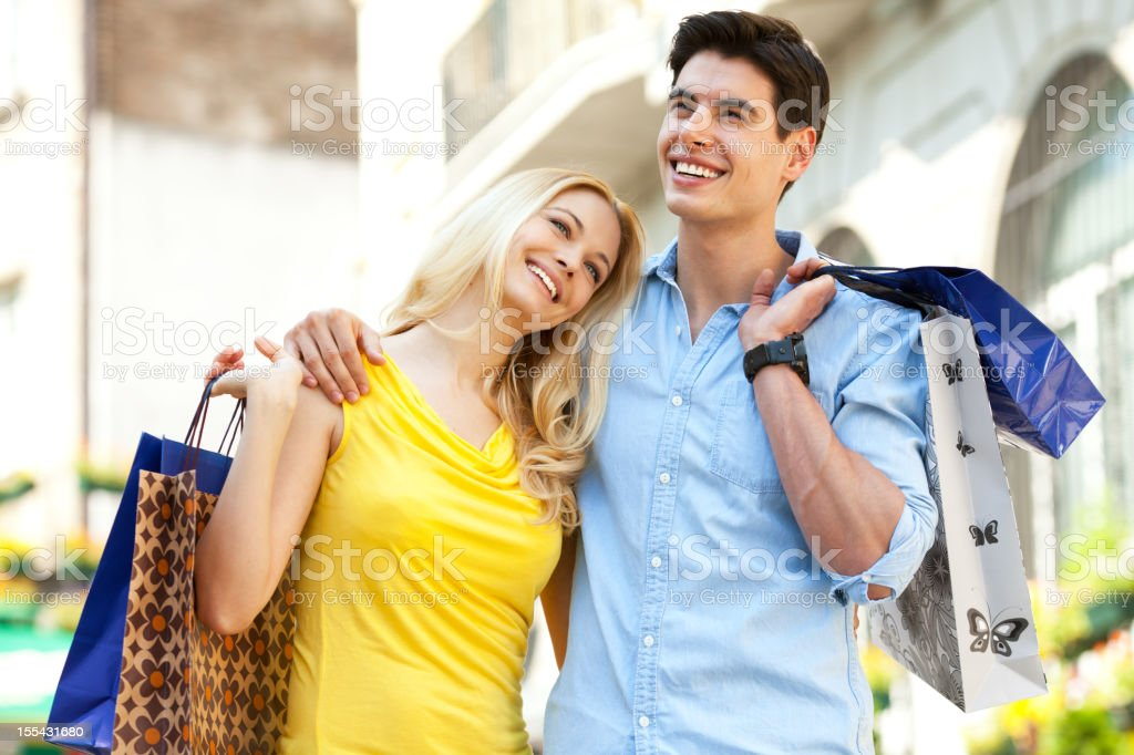 couple in shopping royalty-free stock photo